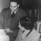 While on the WPA Richard Wright often sought advice from Vivian G. Harsh, librarian at the Hall Branch Library.