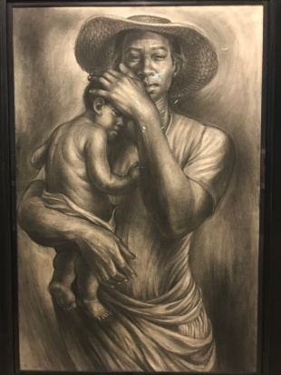 Charles White mother and child